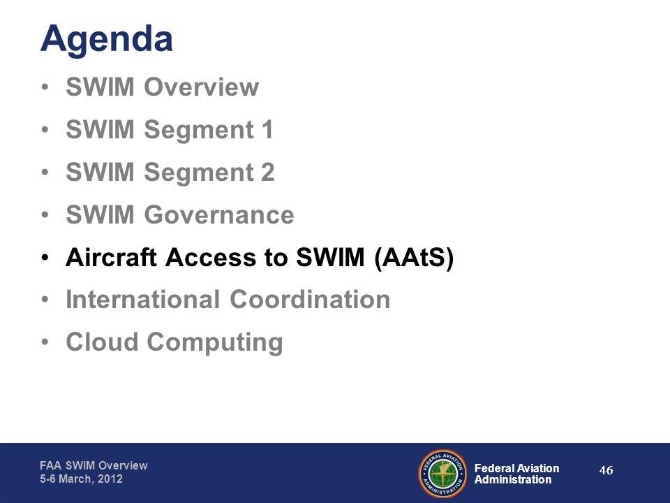 Agenda SWIM Overview SWIM Segment 1 SWIM Segment 2 SWIM Governance