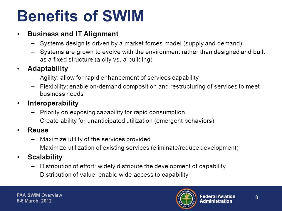 Benefits of SWIM Business and IT Alignment Adaptability