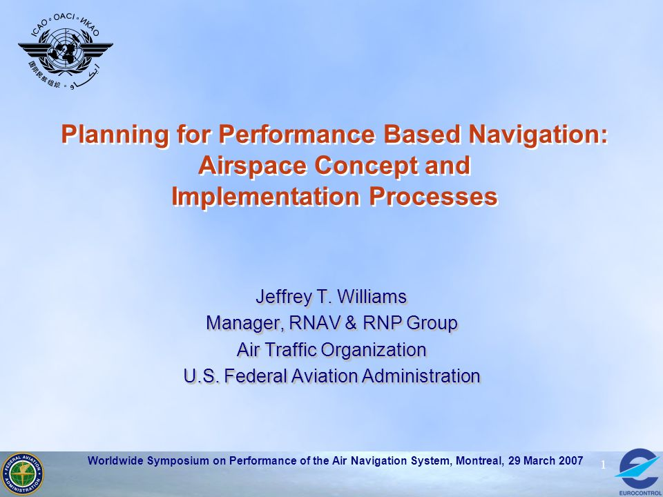 Planning for Performance Based Navigation: Airspace Concept and Implementation Processes