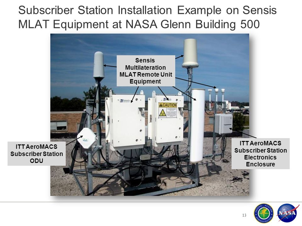 Subscriber Station Installation Example on Sensis MLAT Equipment at NASA Glenn Building 500