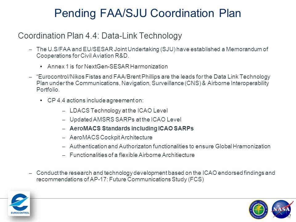 Pending FAA/SJU Coordination Plan