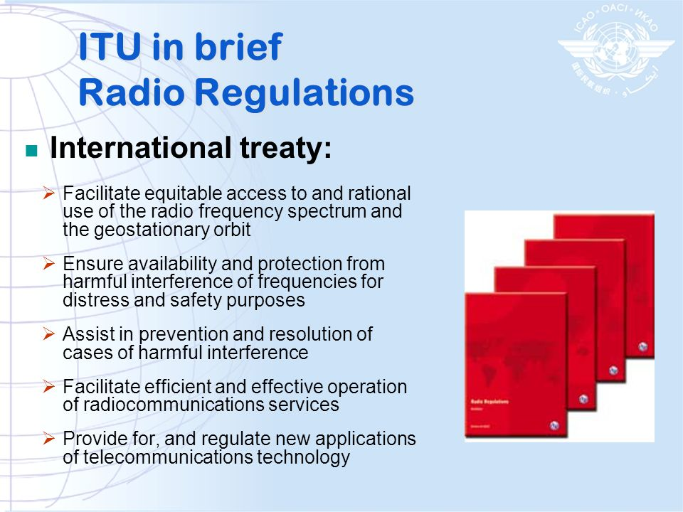ITU in brief Radio Regulations
