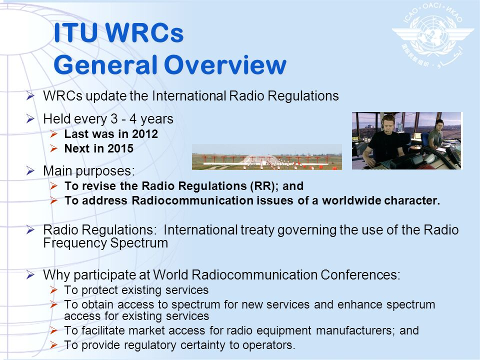 ITU WRCs General Overview