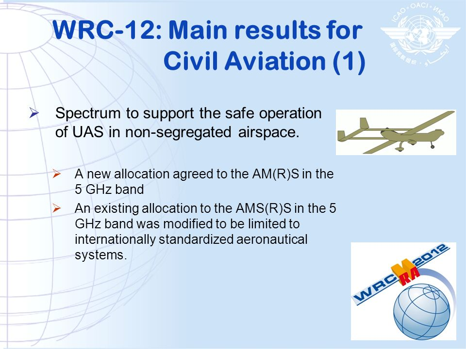 WRC-12: Main results for Civil Aviation (1)
