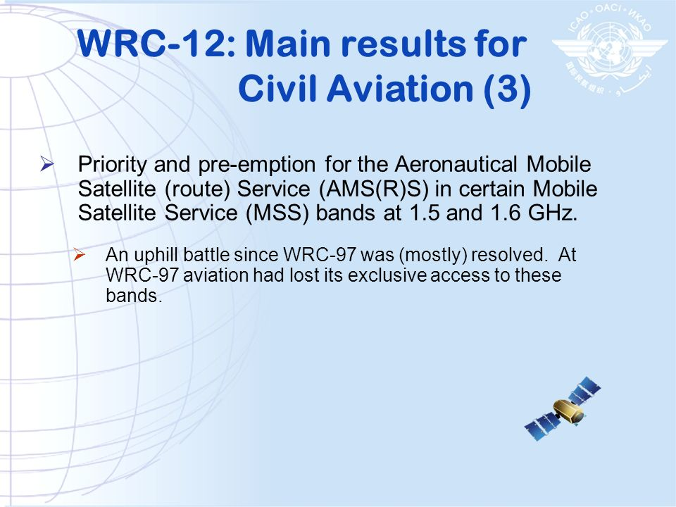 WRC-12: Main results for Civil Aviation (3)
