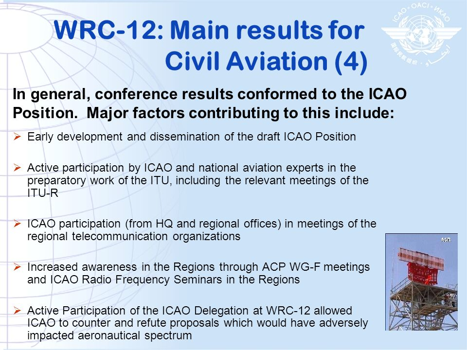 WRC-12: Main results for Civil Aviation (4)