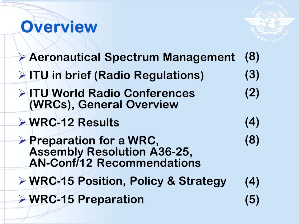 Overview Aeronautical Spectrum Management (8)