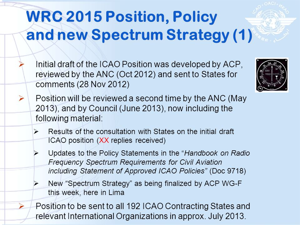 WRC 2015 Position, Policy and new Spectrum Strategy (1)