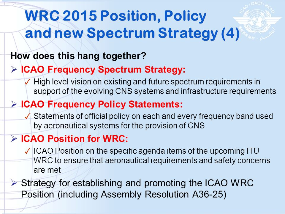 WRC 2015 Position, Policy and new Spectrum Strategy (4)