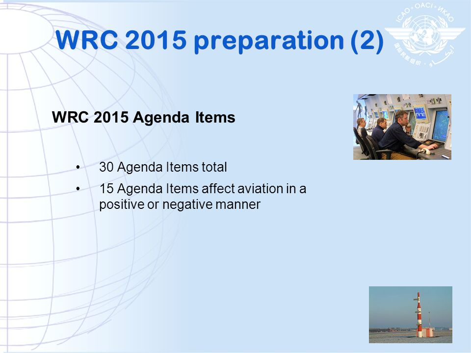 WRC 2015 preparation (2) WRC 2015 Agenda Items 30 Agenda Items total