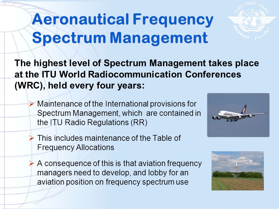Aeronautical Frequency Spectrum Management