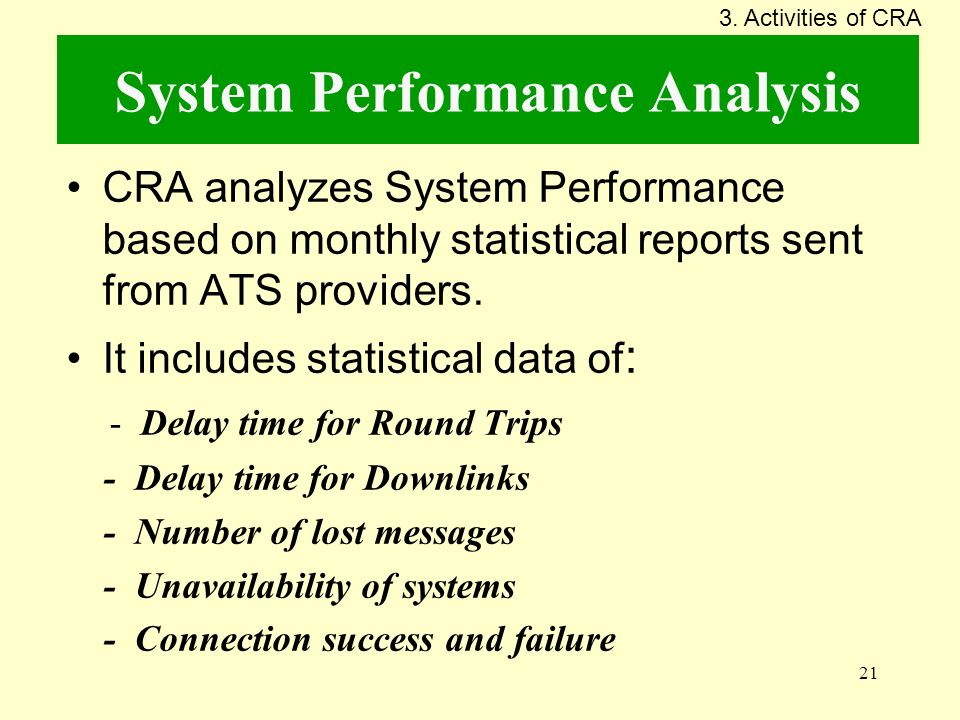 System Performance Analysis