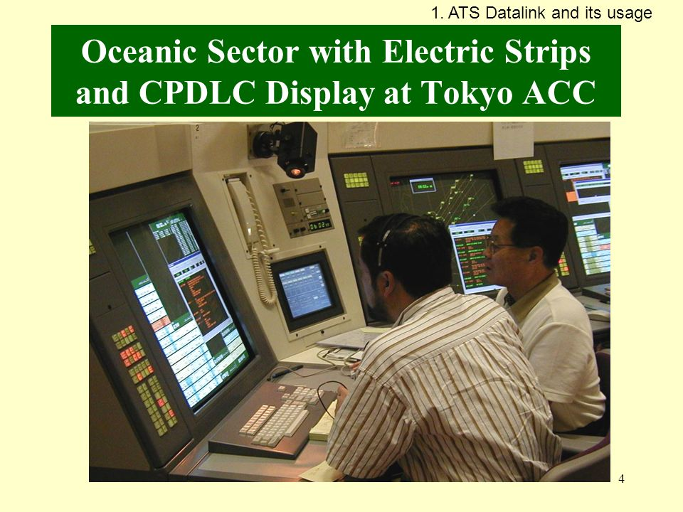 Oceanic Sector with Electric Strips and CPDLC Display at Tokyo ACC