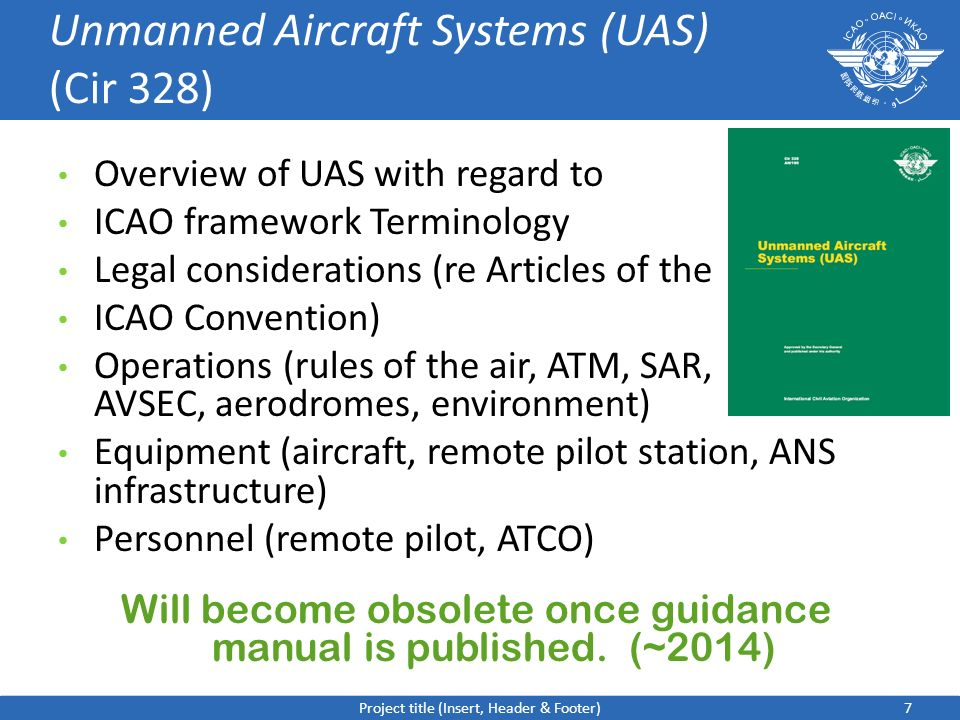 Unmanned Aircraft Systems (UAS) (Cir 328)