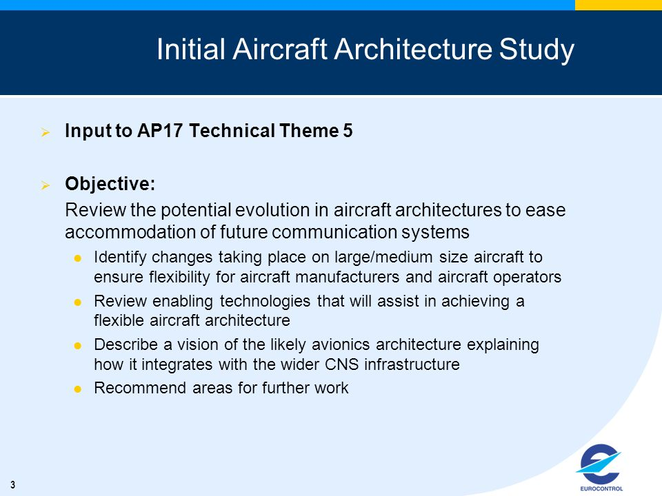 Initial Aircraft Architecture Study