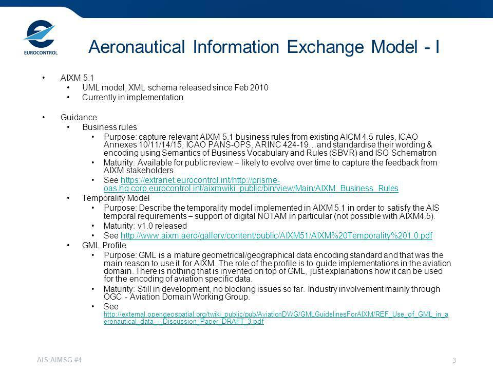 Aeronautical Information Exchange Model - I