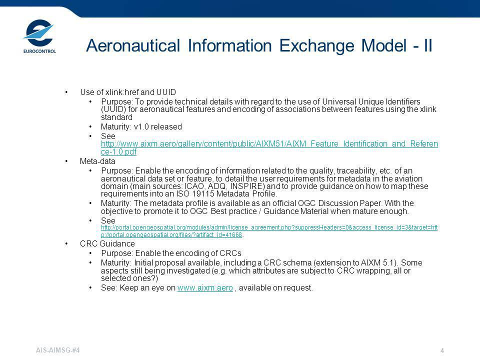 Aeronautical Information Exchange Model - II