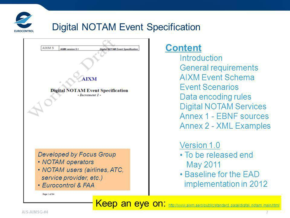 Digital NOTAM Event Specification