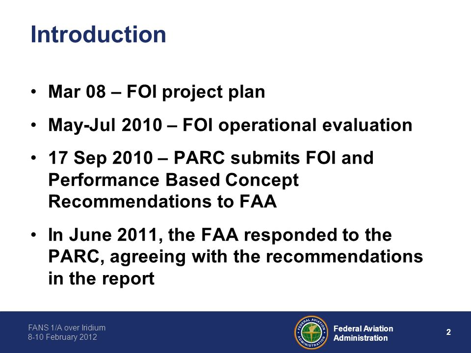 Introduction Mar 08 – FOI project plan