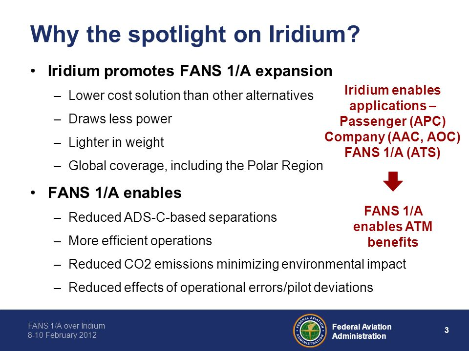Why the spotlight on Iridium