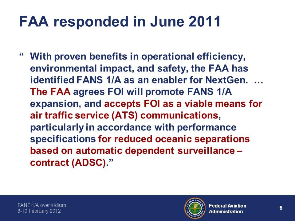 FAA responded in June 2011