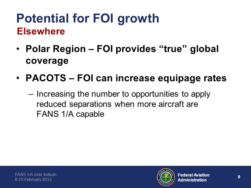 Potential for FOI growth