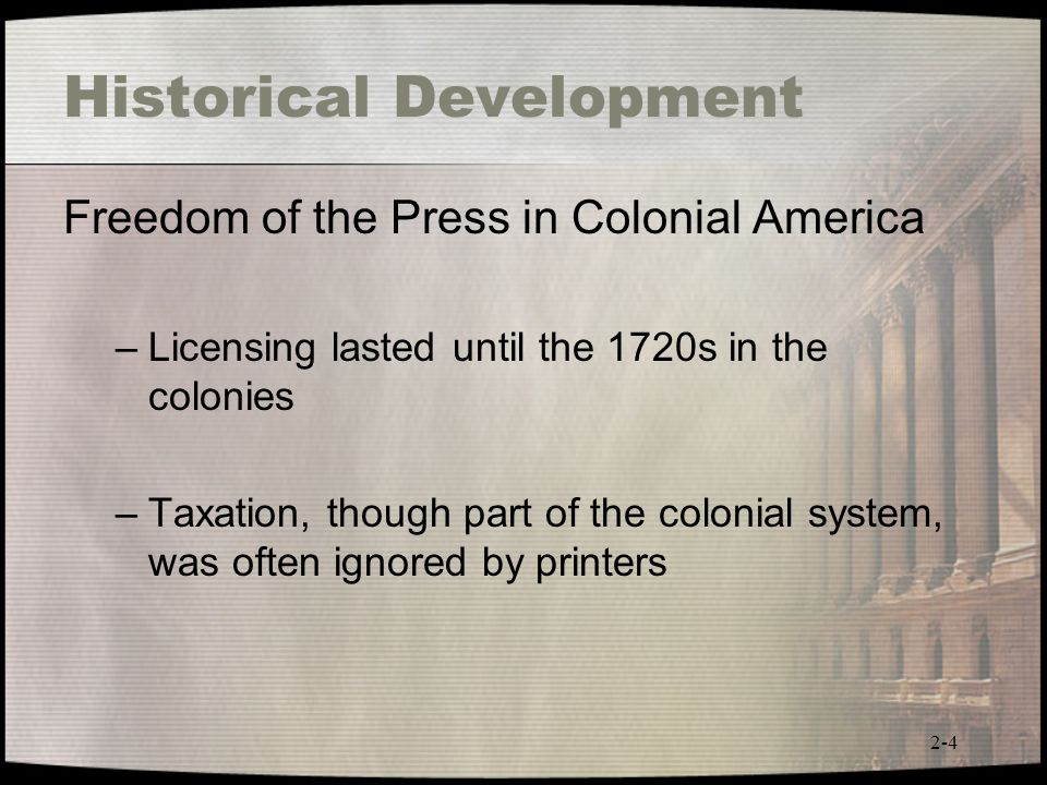 Colonial American Development : Mass media law th edition ppt video online download