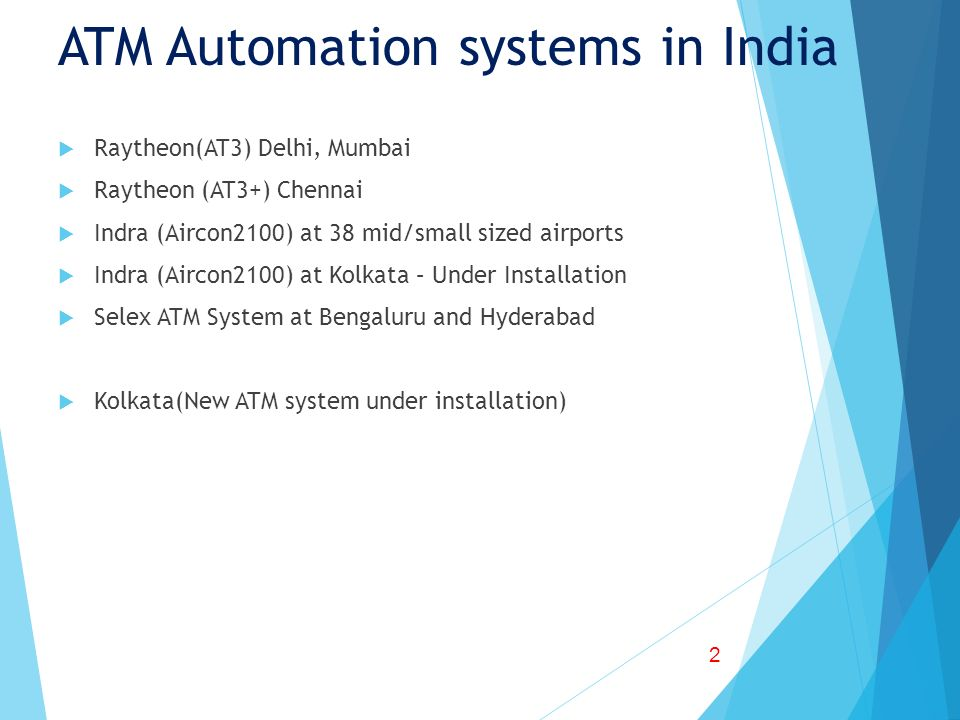 ATM Automation systems in India