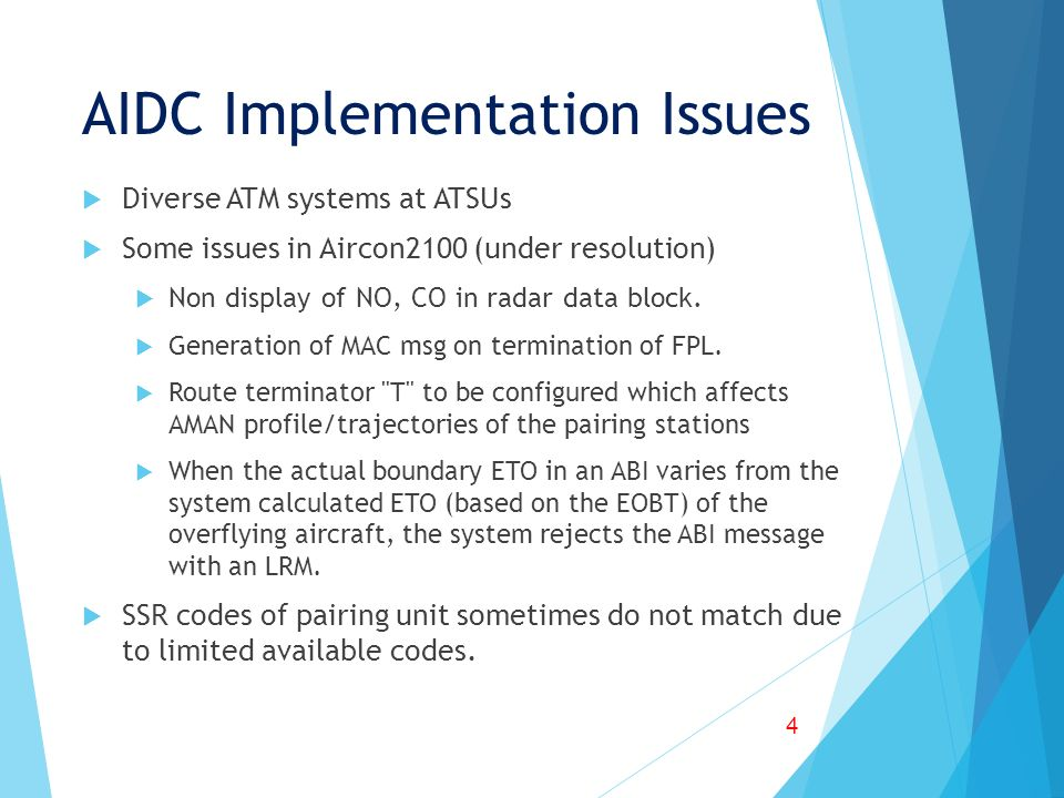 AIDC Implementation Issues