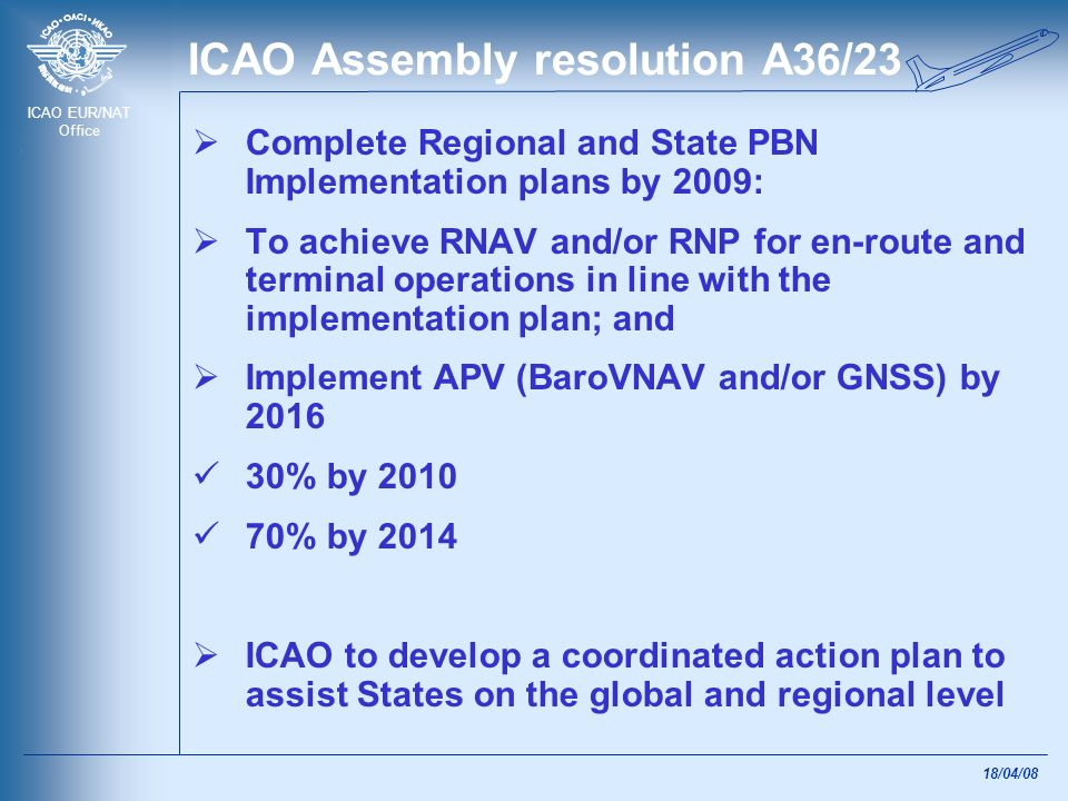 ICAO Assembly resolution A36/23