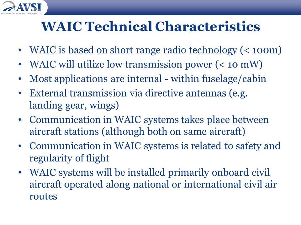 WAIC Technical Characteristics