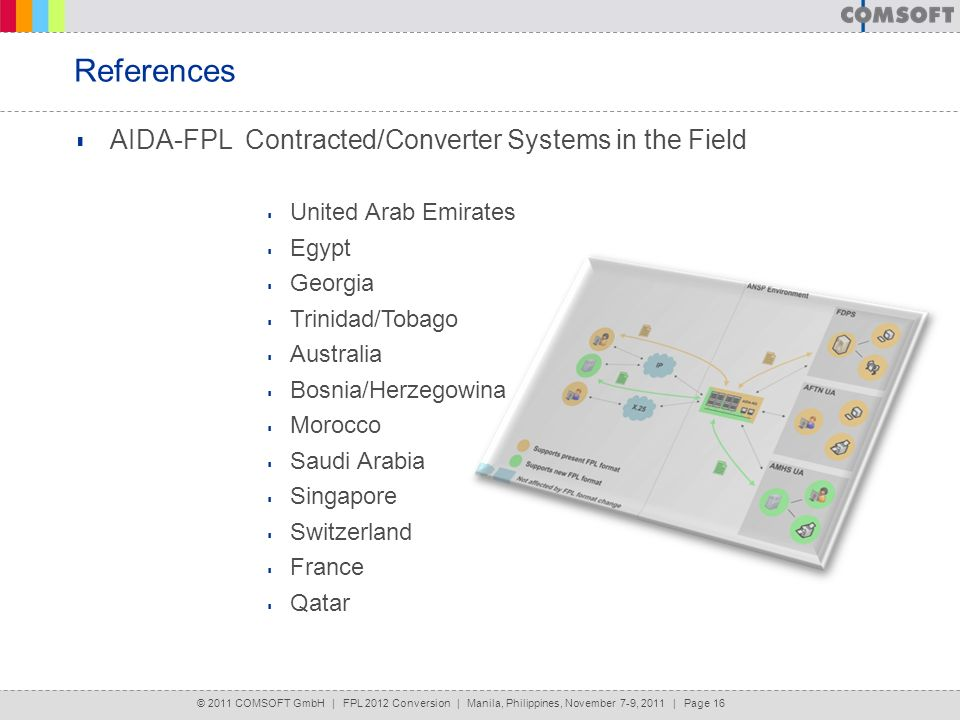 References AIDA-FPL Contracted/Converter Systems in the Field
