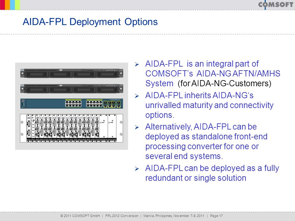 AIDA-FPL Deployment Options