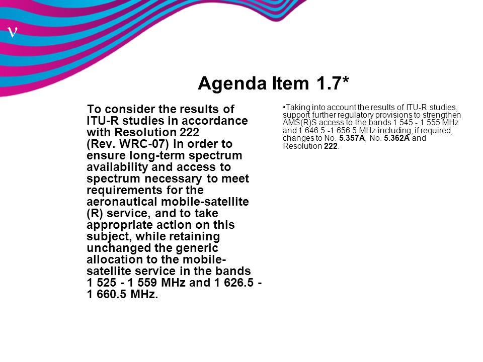 Agenda Item 1.7*