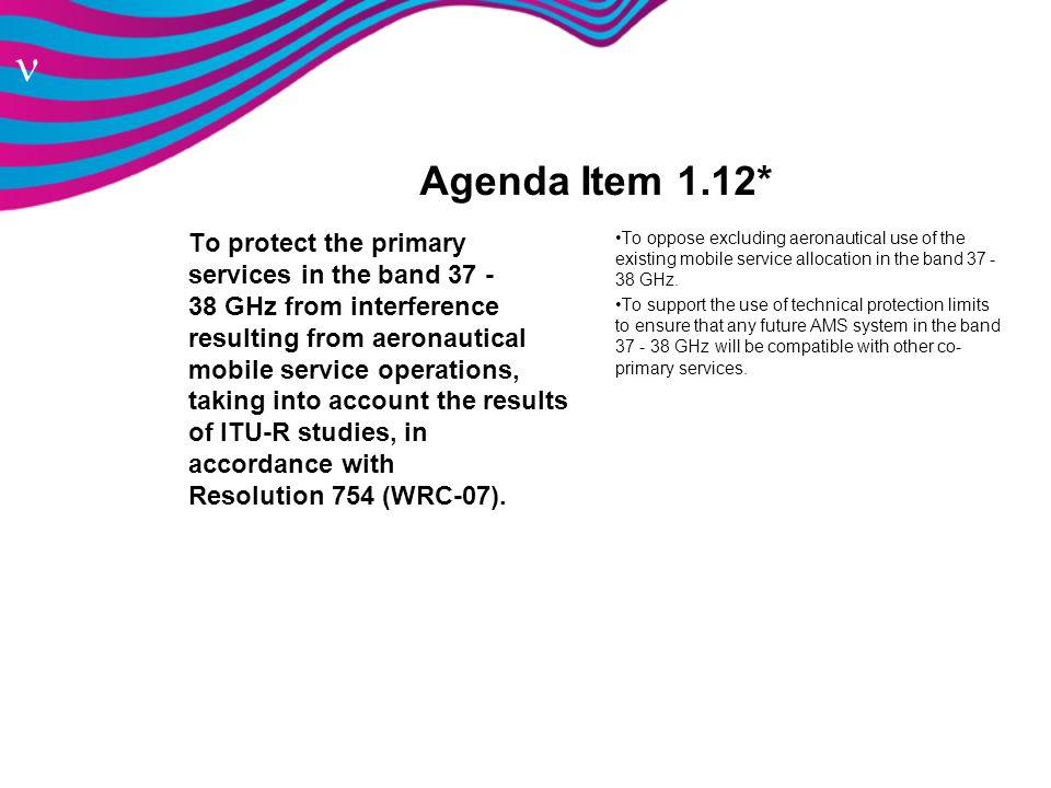 Agenda Item 1.12*