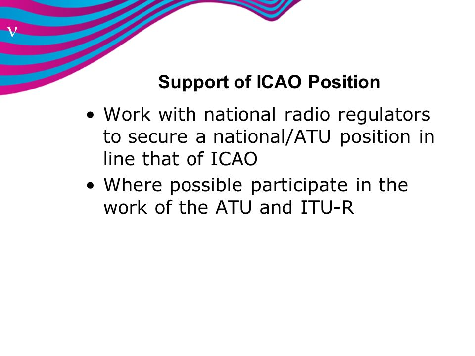 Support of ICAO Position