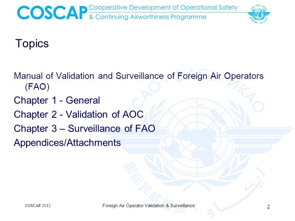 Foreign Air Operator Validation & Surveillance