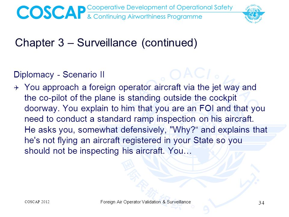 Chapter 3 – Surveillance (continued)