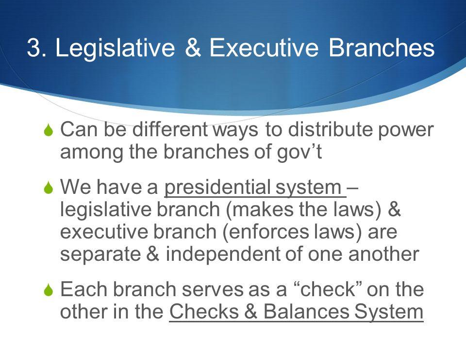 3. Legislative & Executive Branches