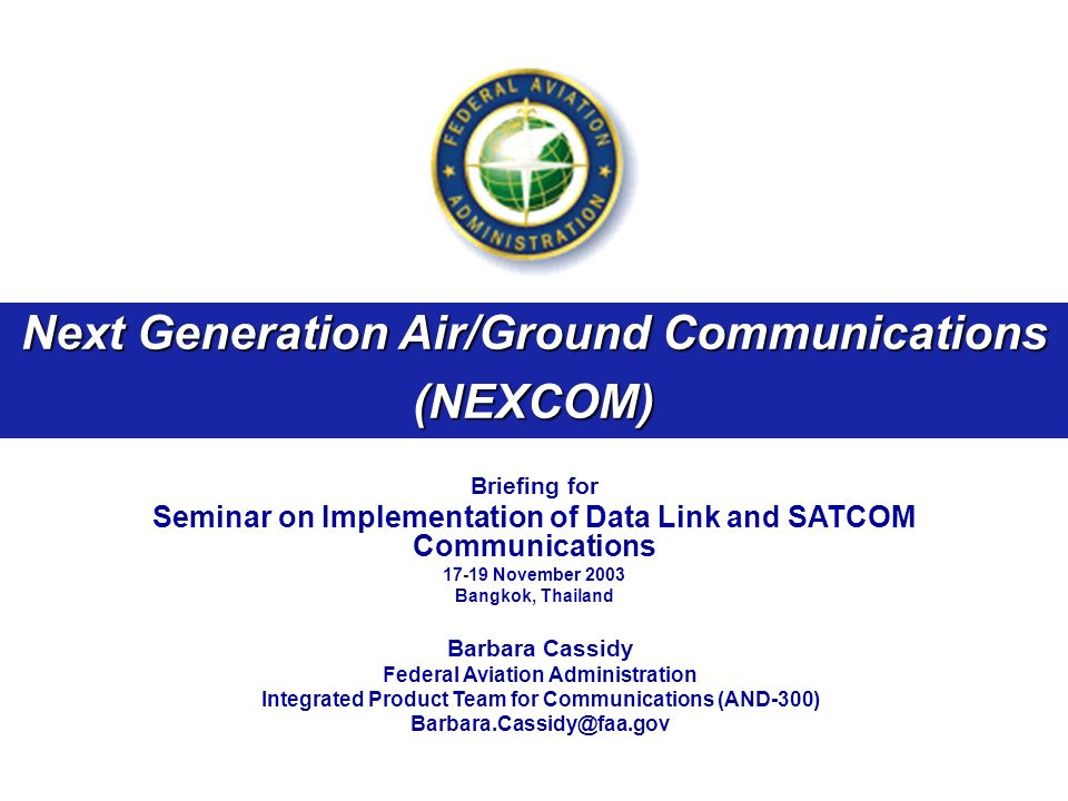 Next Generation Air/Ground Communications (NEXCOM)