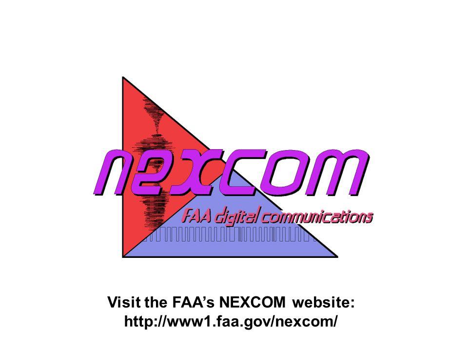 Visit the FAA's NEXCOM website: