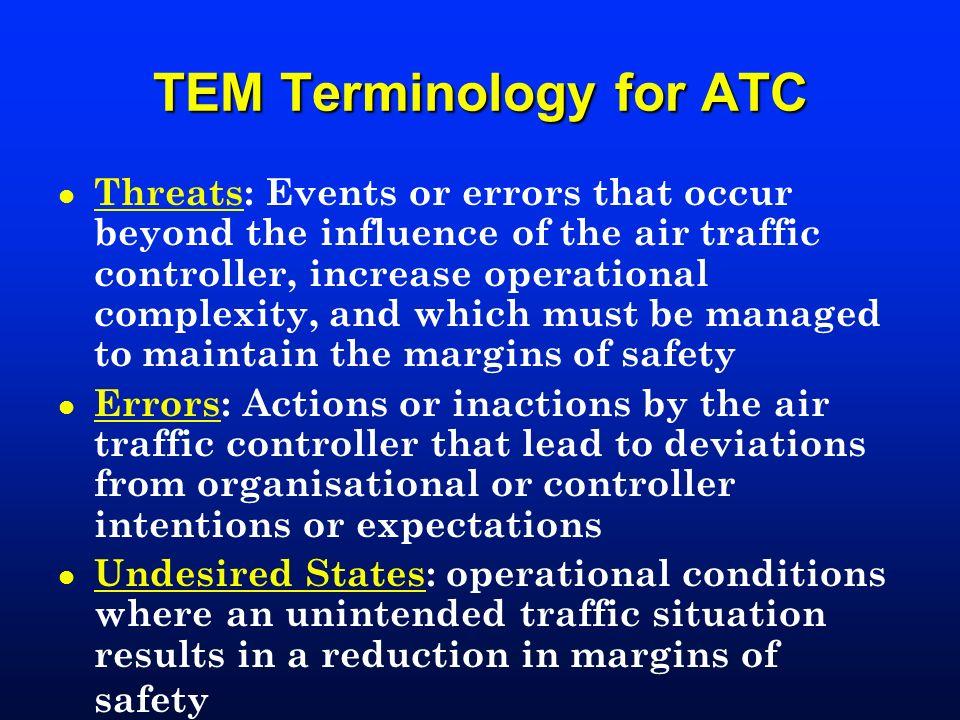 TEM Terminology for ATC