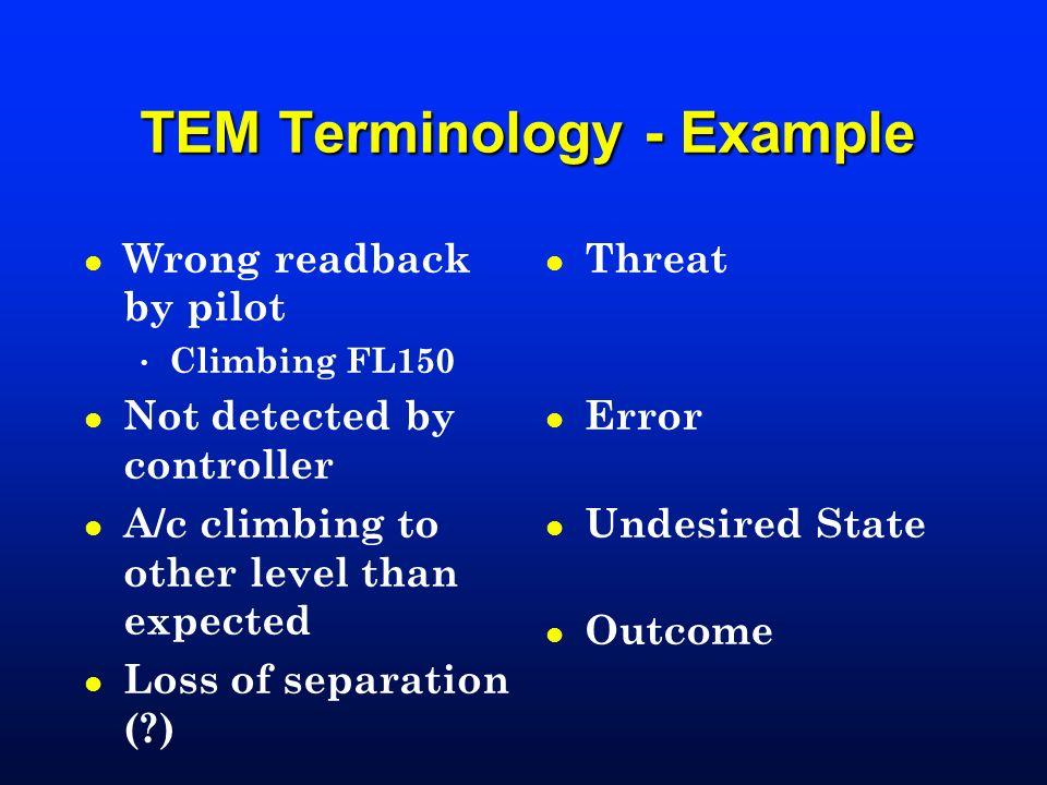 TEM Terminology - Example