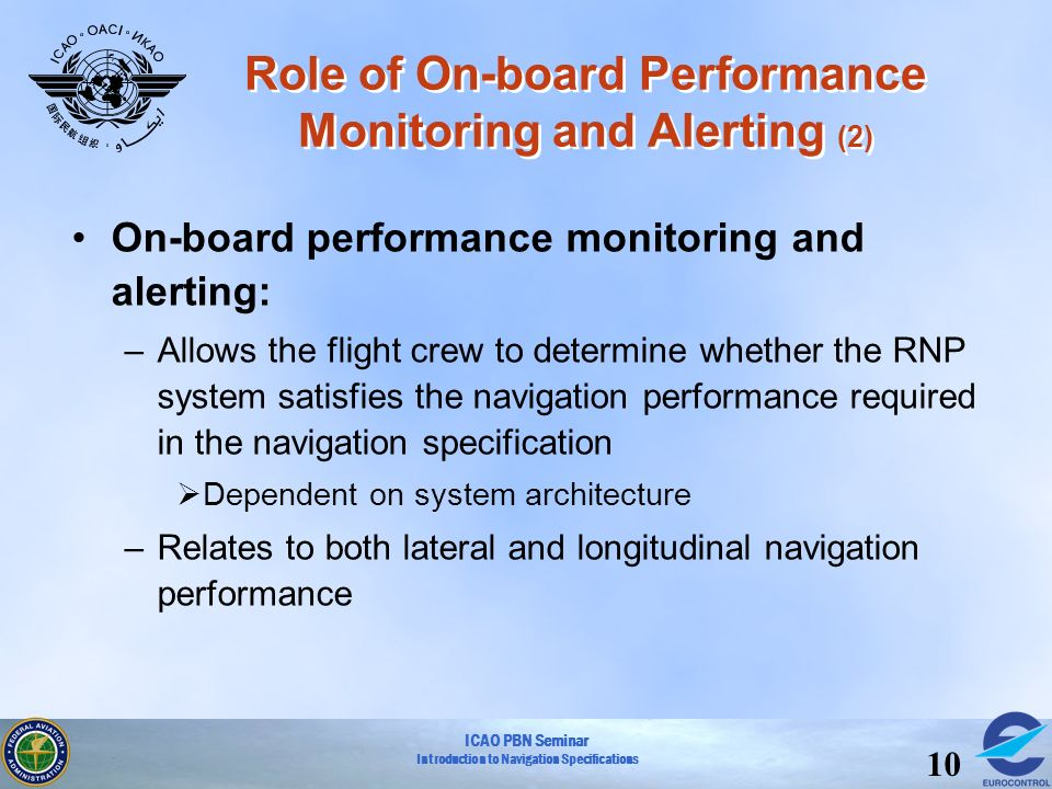 Role of On-board Performance Monitoring and Alerting (2)