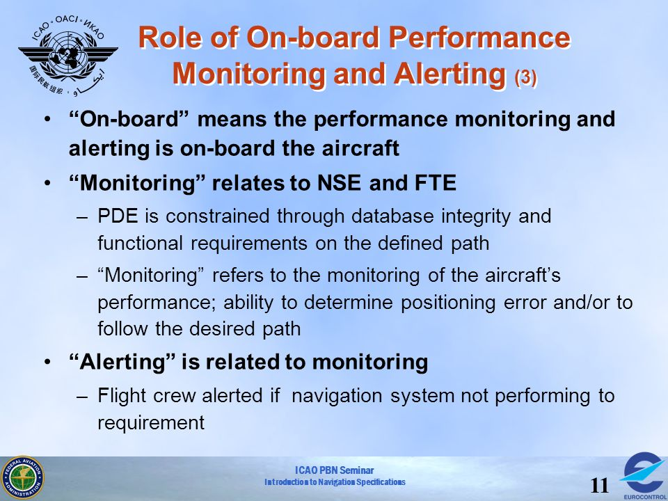 Role of On-board Performance Monitoring and Alerting (3)