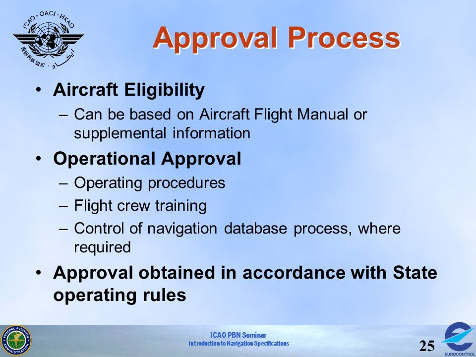 Approval Process Aircraft Eligibility Operational Approval