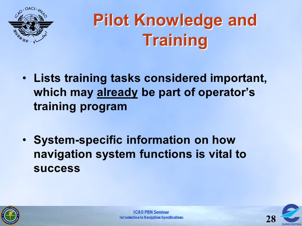 Pilot Knowledge and Training
