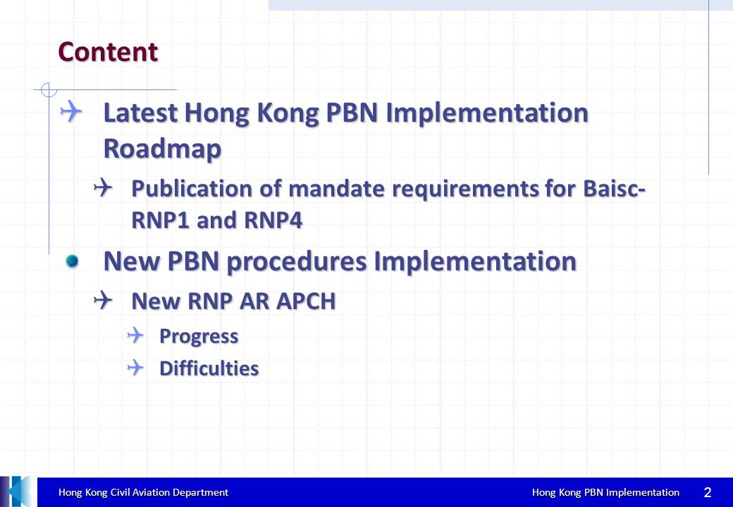 Latest Hong Kong PBN Implementation Roadmap