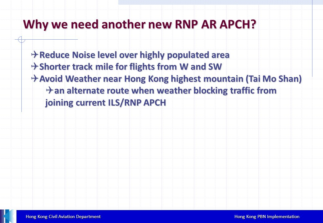Why we need another new RNP AR APCH