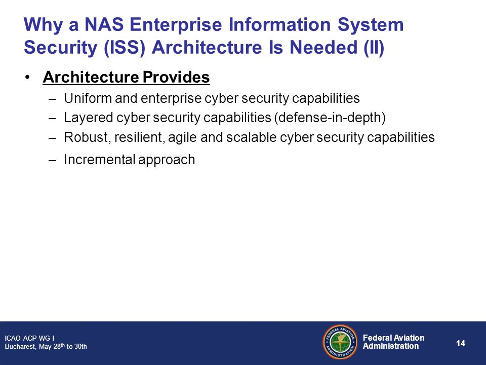 Why a NAS Enterprise Information System Security (ISS) Architecture Is Needed (II)